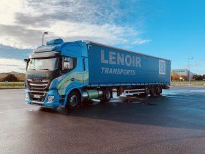 Camion gaz iveco gnl chez lenoir transports